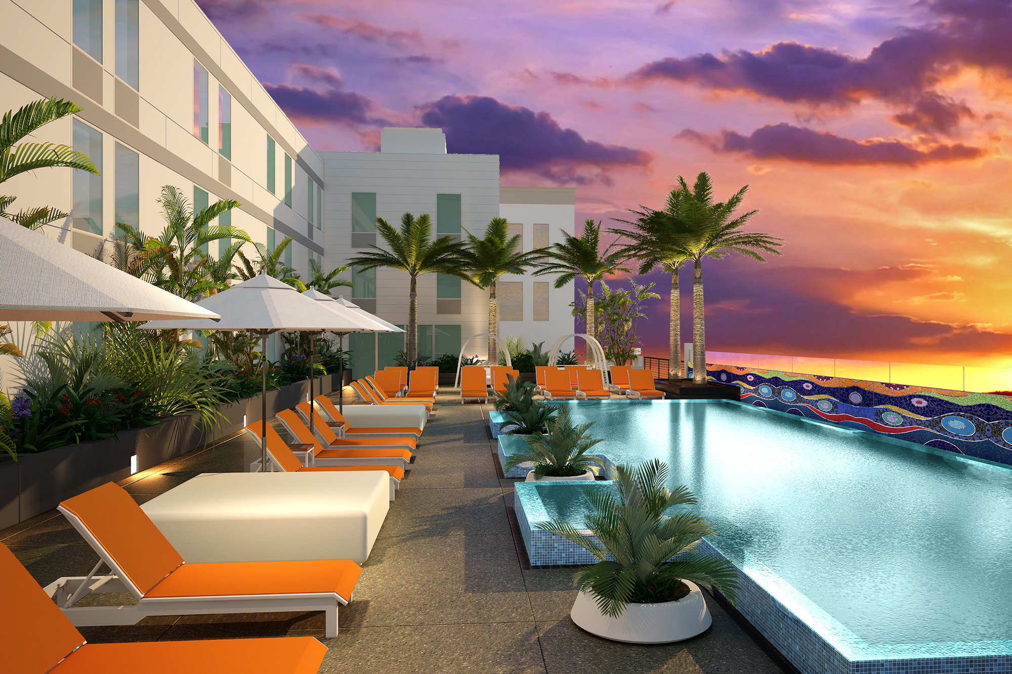 Enjoy Sunsets Each Night From The West Facing Pool Deck
