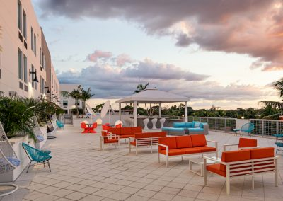 236 Fifth Avenue and Aloft Delray Beach Hotel terrace
